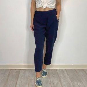 J. CREW cropped drapey pants flat front pockets